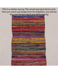 Magnificent Rag Rug Meditation Mat