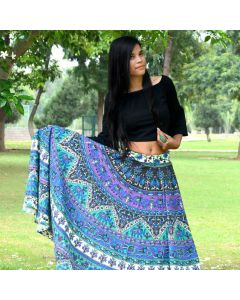 Madhura Purple Indian Mandala Skirt