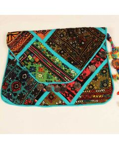 Vintage Old Coin Embroidered Clutch