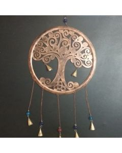 Peaceful Tree of Life Design Metal Hanging