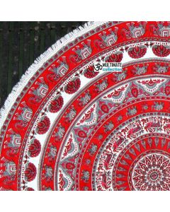 Royalty Large Round Blanket - Small Fringe