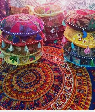 Round Boho Pillows